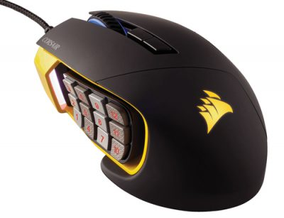 Corsair Gaming Scimitar Pro Negro-Amarillo