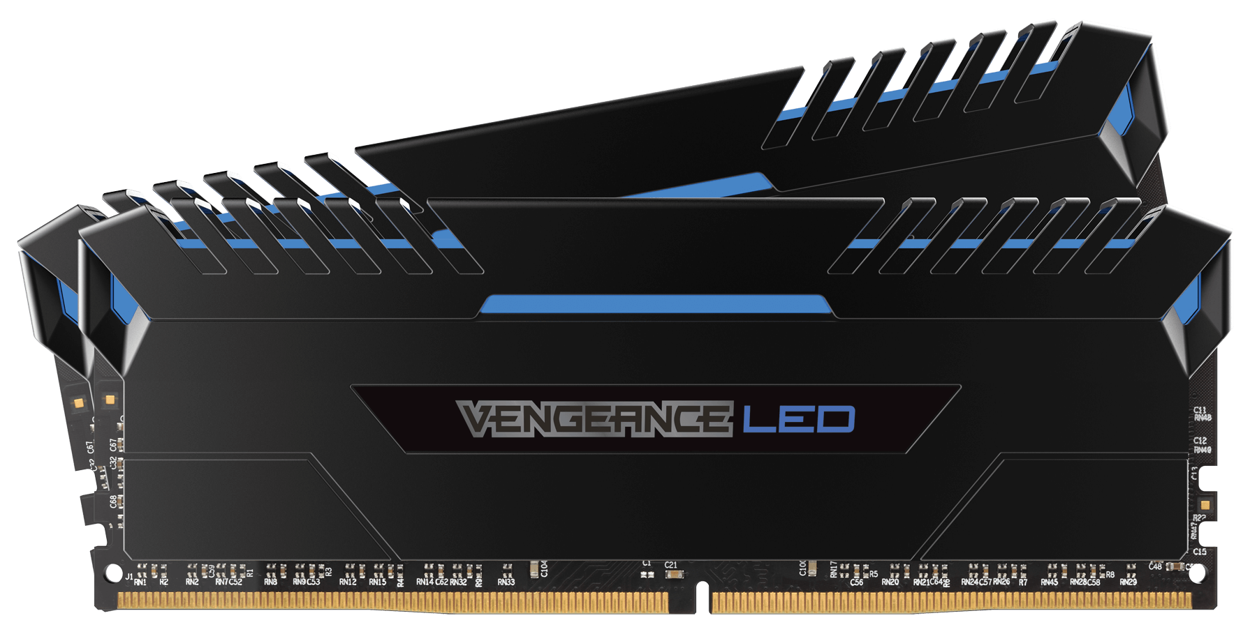 Corsair Vengeance Black Blue Led 16GB DDR4 3200MHz 2x8GB