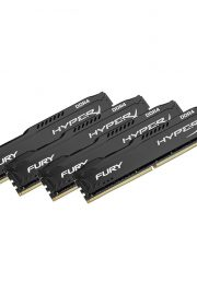 Kingston HyperX FURY Memory Black 64GB DDR4 2400MHz Kit 4x16GB