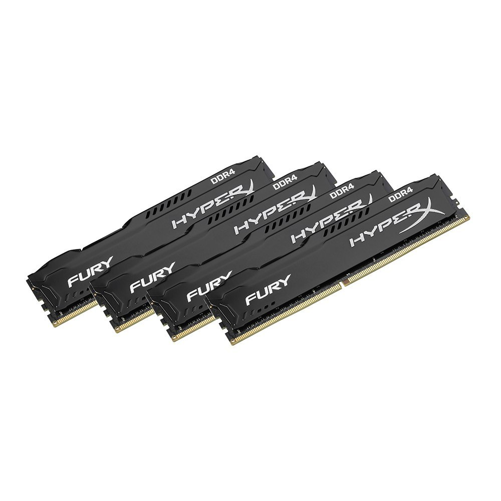 Kingston HyperX FURY Memory Black 64GB DDR4 2400MHz Kit 4x16GB
