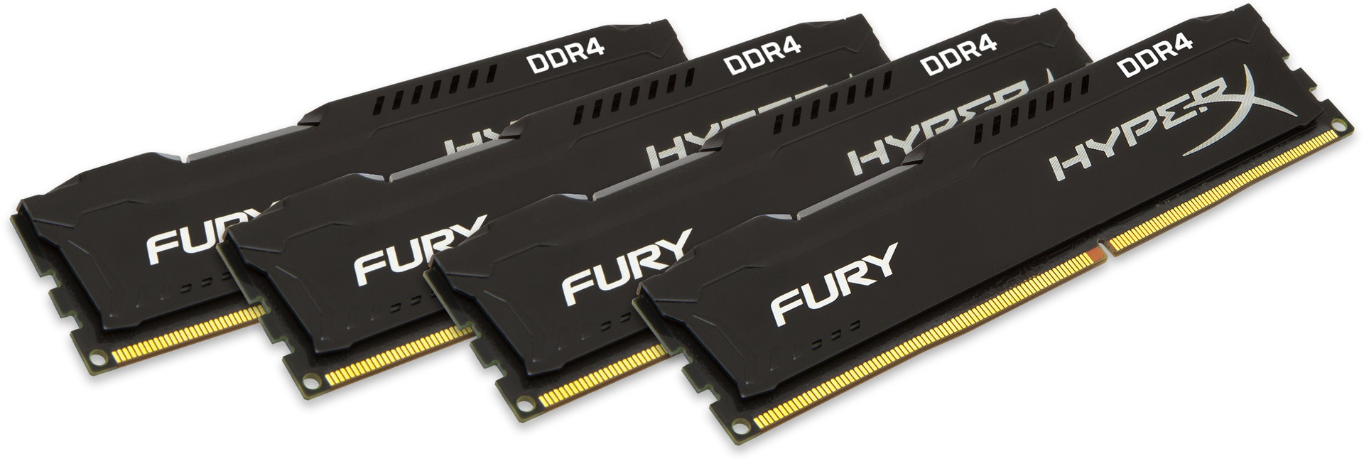 Kingston HyperX FURY Memory Black 32GB DDR4 2133MHz Kit 4x8GB