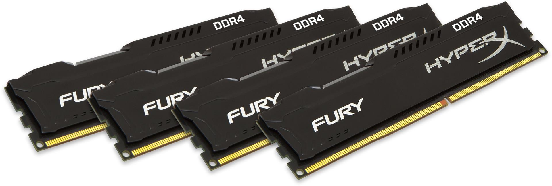Kingston HyperX FURY Memory Black 32GB DDR4 2400MHz Kit 4×8