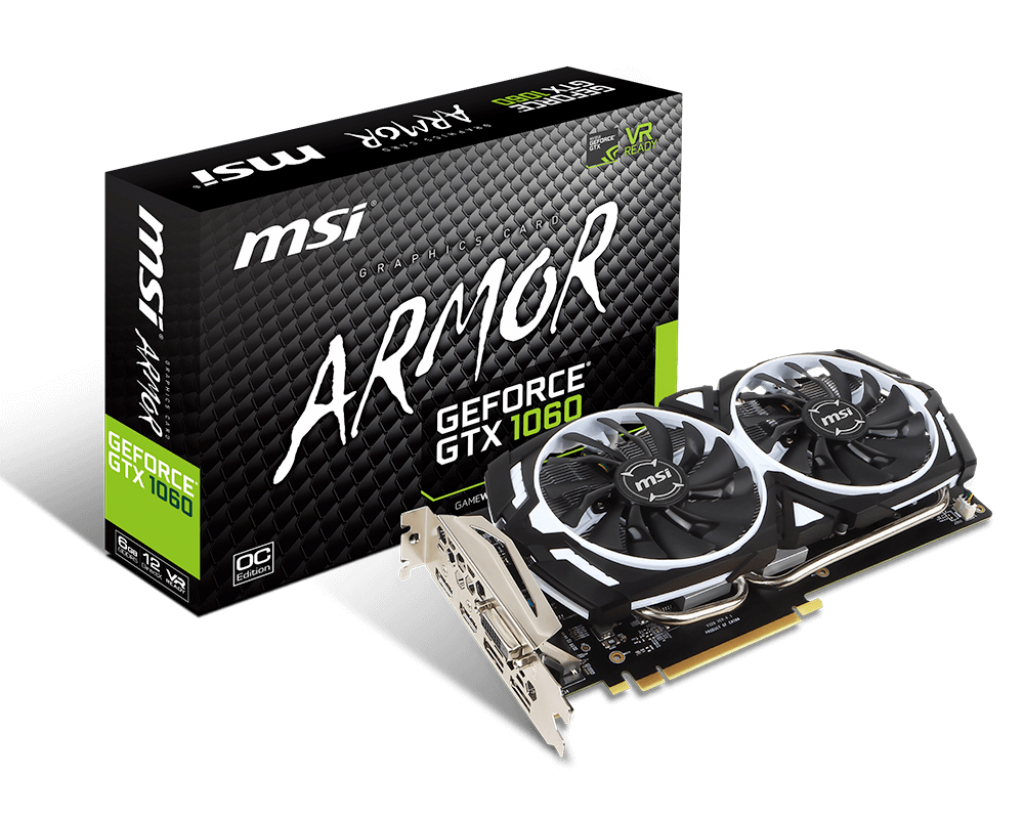 MSI GeForce GTX 1060 Armor OCV1