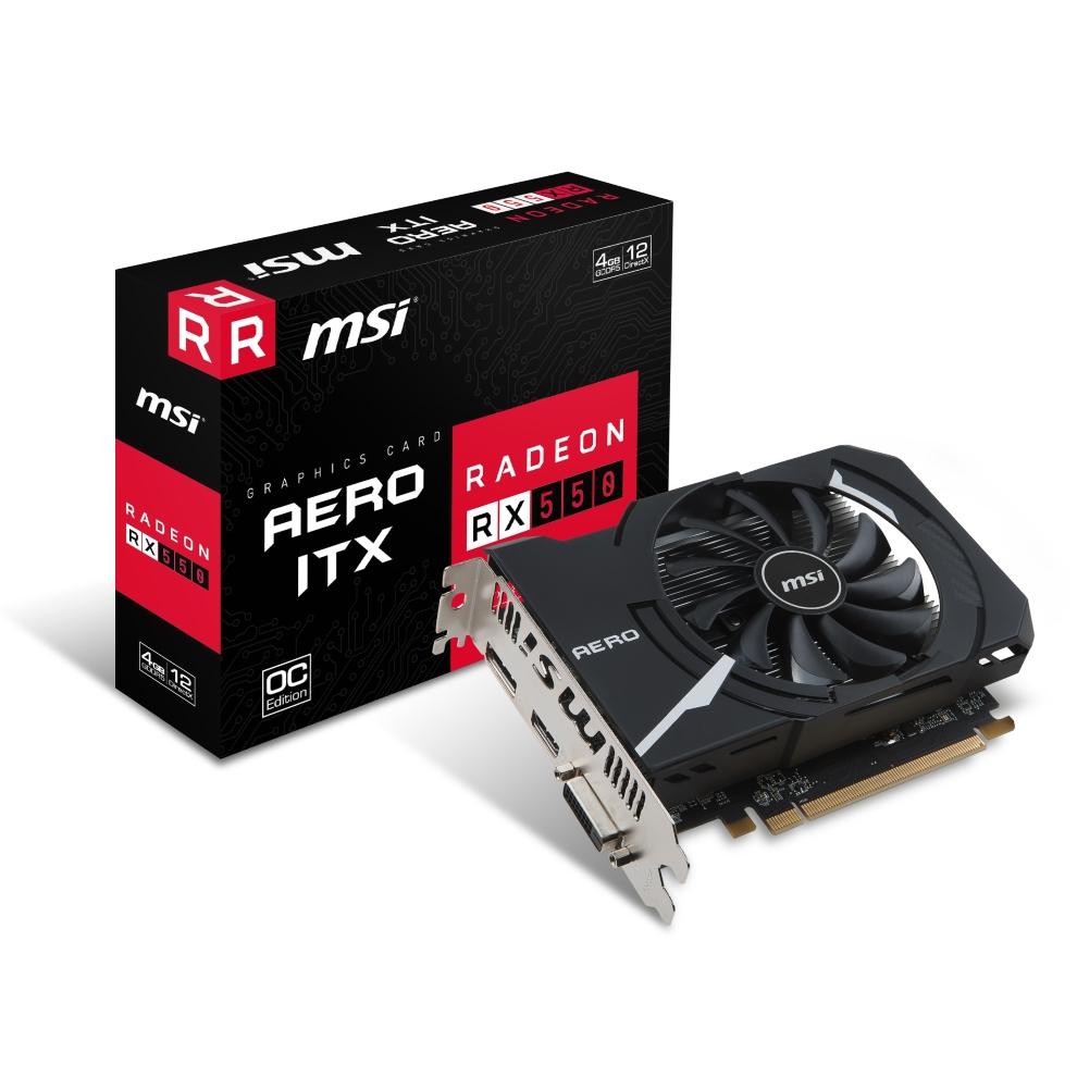 MSI RX 550 AERO ITX 2G OC,AMD,RX550,2GB