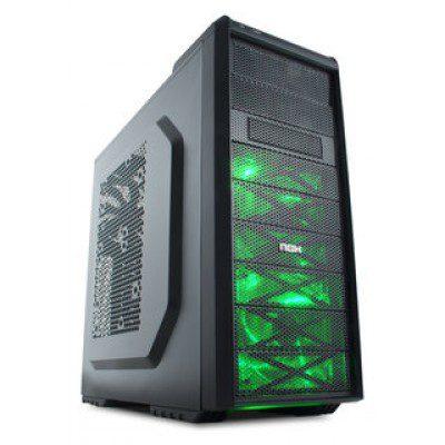 nox atx coolbay sx 1 x usb 3.0. negro-verde-NXCBAYSXG