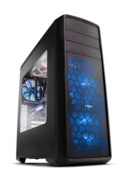 NOX Coolbay ZX Blue LED Midi-Tower Negro