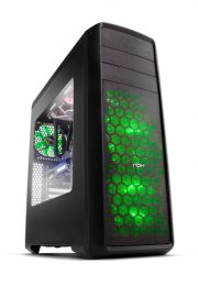 NOX Coolbay ZX Green LED Midi-Tower Negro