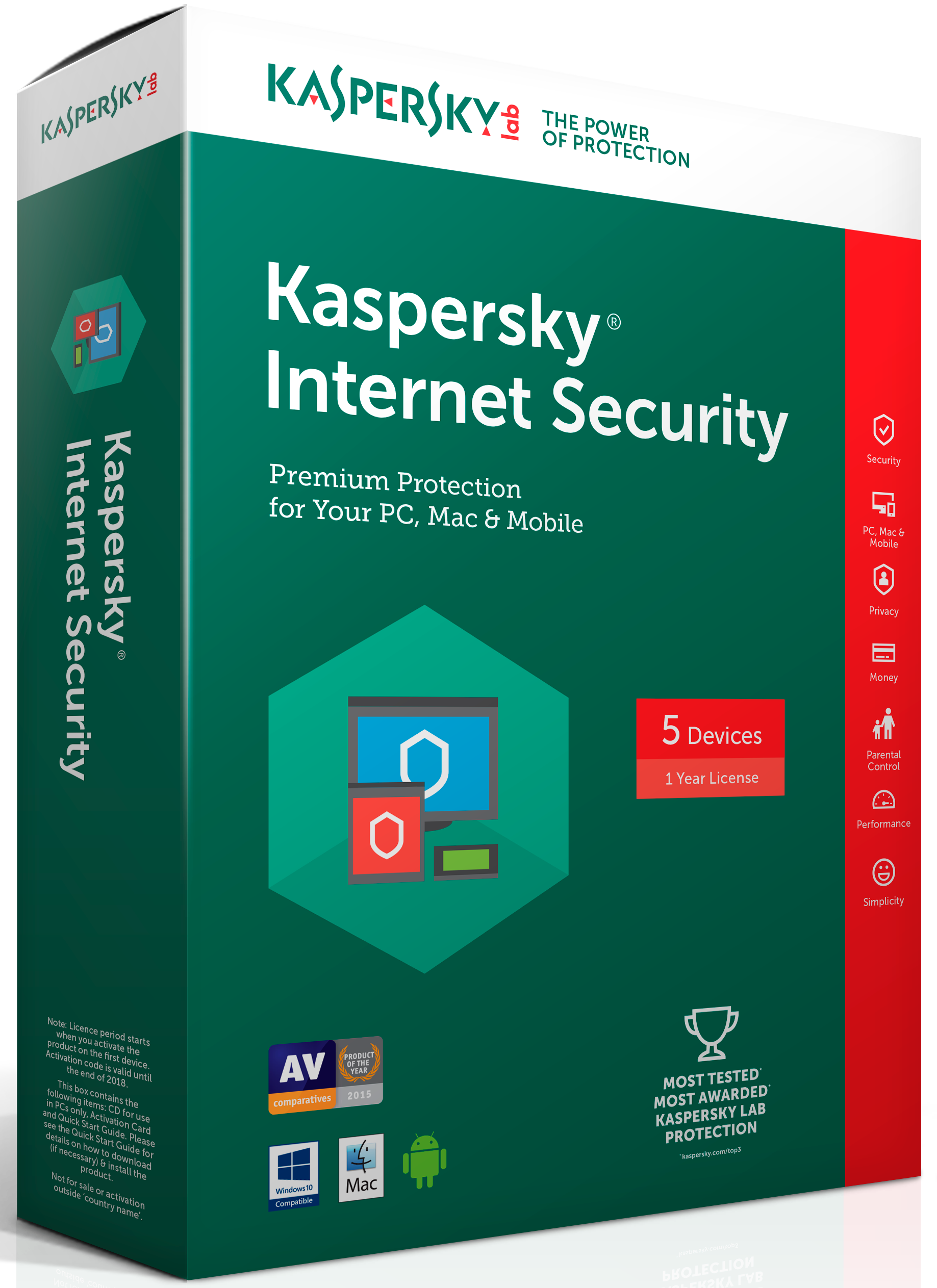 kaspersky Internet Security Multi 2017 5U