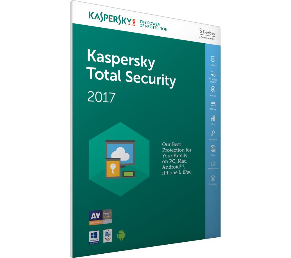 kaspersky Total Security 2017 3U