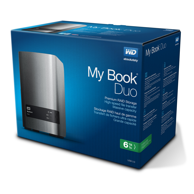 Disco Duro WD 6TB My Book Duo Plata