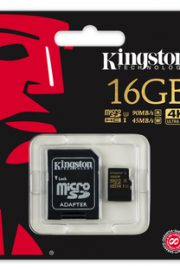 kingston gold microsd uhs-i speed class 3 16gb con adaptador