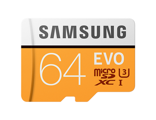 micro sd samsung evo 64gb clase 10 con adaptador
