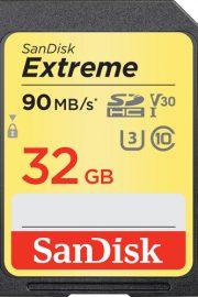 sandisk extreme sdhc card 32gb 90mbs v30 uhs-i u3