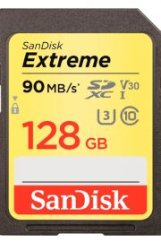 SANDISK Extreme SDXC Card 128GB V30 UHS-I U3