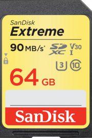sandisk extreme sdxc card 64gb v30 uhs-i u3