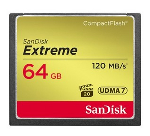 Sandisk Compact Flash Extreme CF write  UDMA7 64GB
