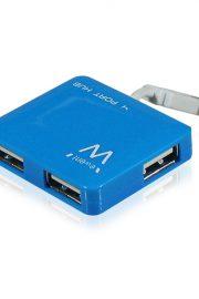 Conector EWENT HUB 4 puertos USB Azul