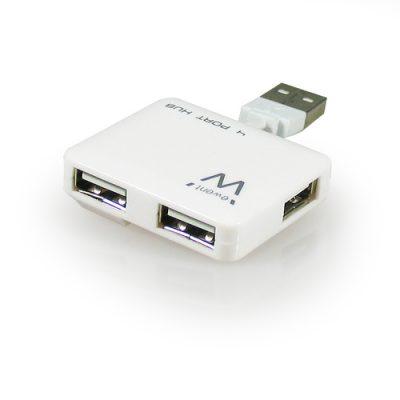 Conector EWENT HUB 4 puertos USB Blanco