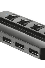 Conector Trust HUB 4 puertos USB con interruptor