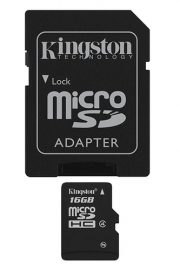 Kingston Technology 16Gb microSDHC Flash Class 4