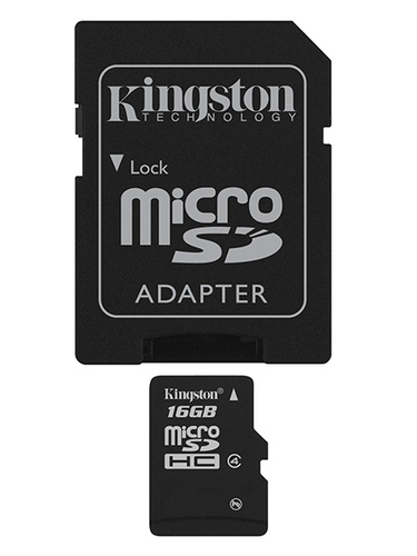 Kingston Technology 16Gb microSDHC Flash Class 4
