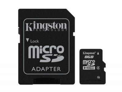 Kingston Technology microSDHC 8GB MicroSD Flash