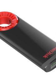 SanDisk Cruzer Dial USB Negro-Rojo 64GB