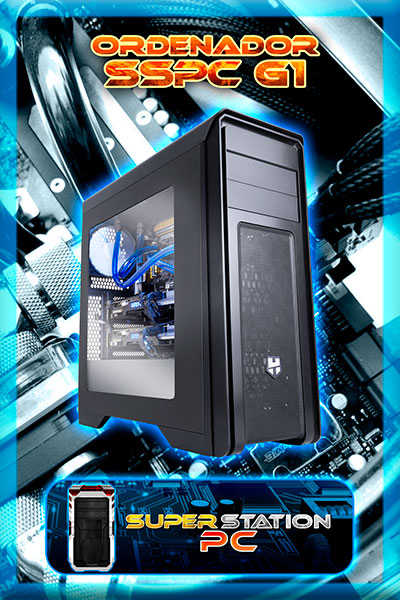 Ordenador Personalizado Gaming AMD AM4 A10 9700 3.8Ghz Ram 8Gb Gigabyte GTX 1050 2GB HDD 2Tb SSD 120GB