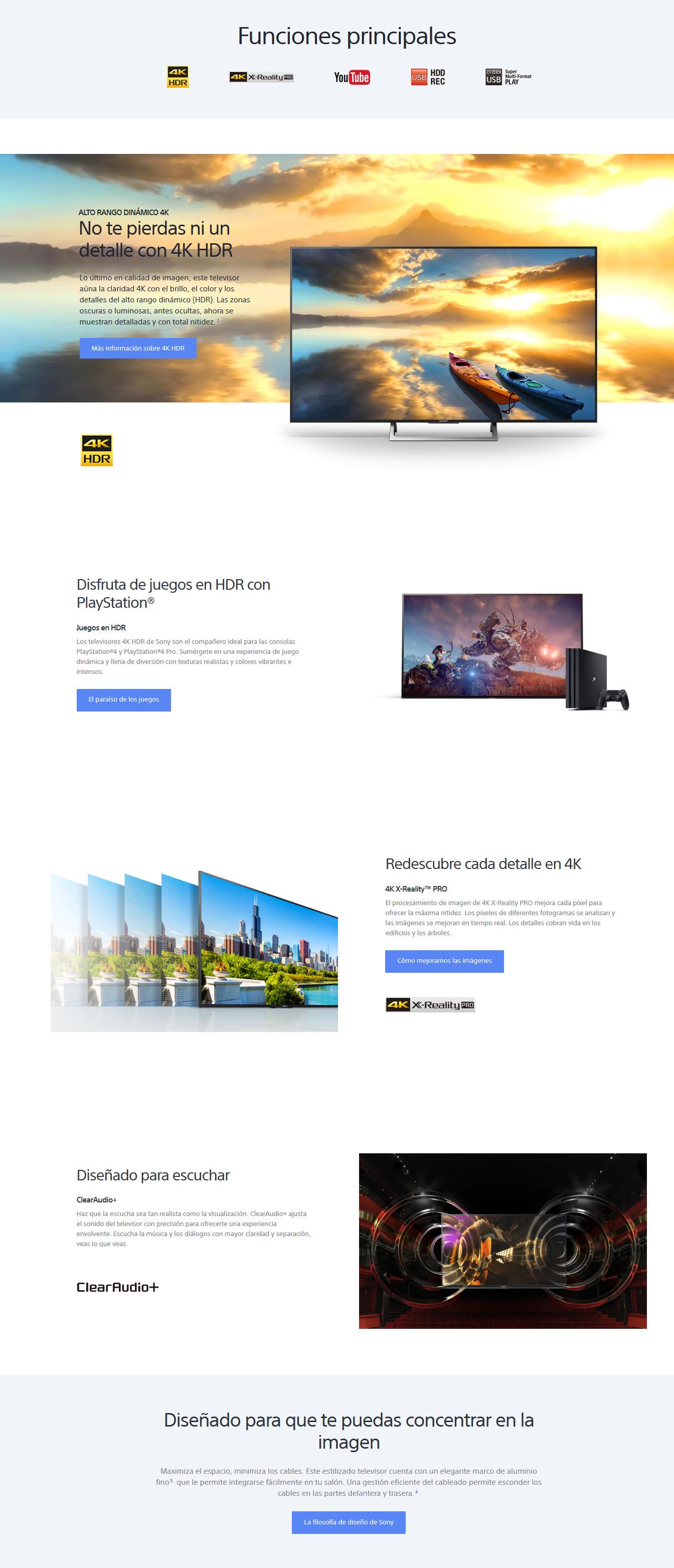 "Television Sony KD43XE7096 43"" 4K Smart TV LED 04"