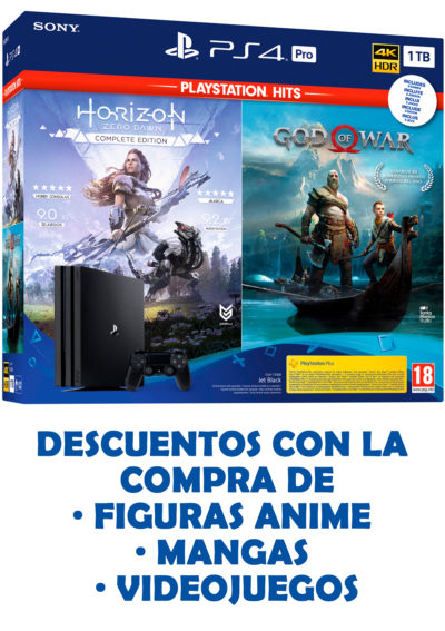 PlayStation 4 Pro 1TB GoW y HZD
